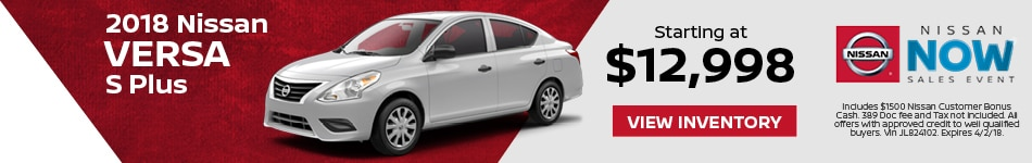 Versa Nissan Now Sales Event
