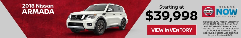 Armada Nissan Now Sales Event