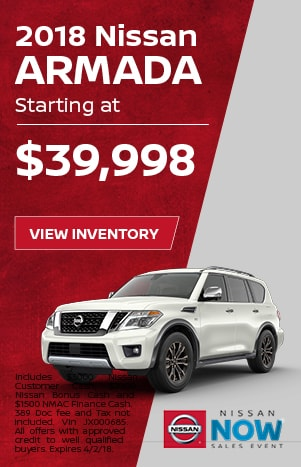 Armada Nissan Now Sales Event