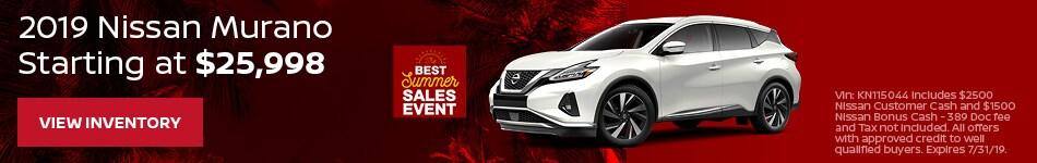 New 2019 Nissan Murano 7/12/2019