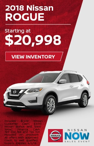 Rogue Nissan Now Sales Event