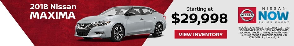 Maxima Nissan Now Sales Event