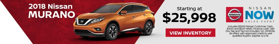 Murano Nissan Now Sales Event