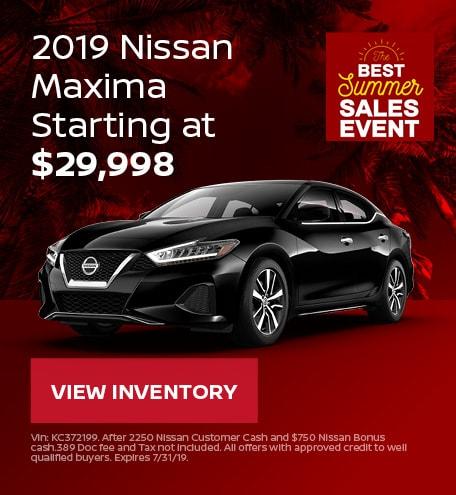 New 2019 Nissan Maxima 7/12/2019