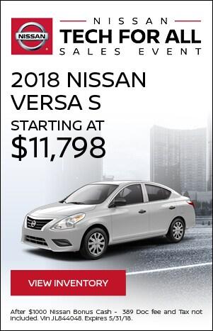 Tech For All - 2018 Nissan Versa