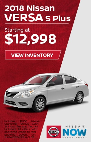 Versa Nissan Now Sales Event