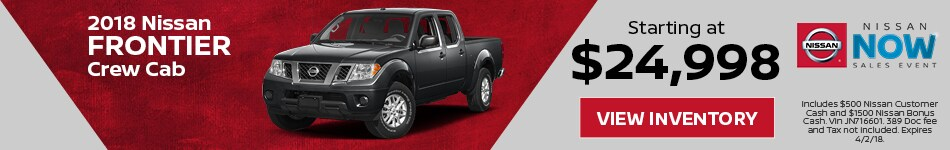 Frontier Nissan Now Sales Event