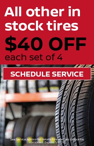 All in stock tires $40 off set of 4