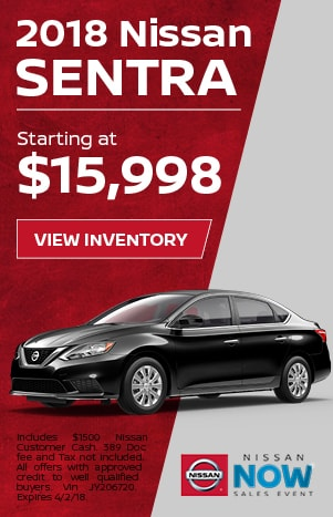 Sentra Nissan Now Sales Event