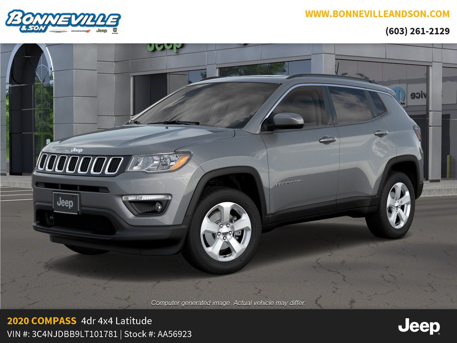 New 2020 Jeep Compass LATITUDE 4X4 Sport Utility in Manchester, NH