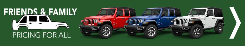 Jeep Wrangler Friends & Family Pricing for All
