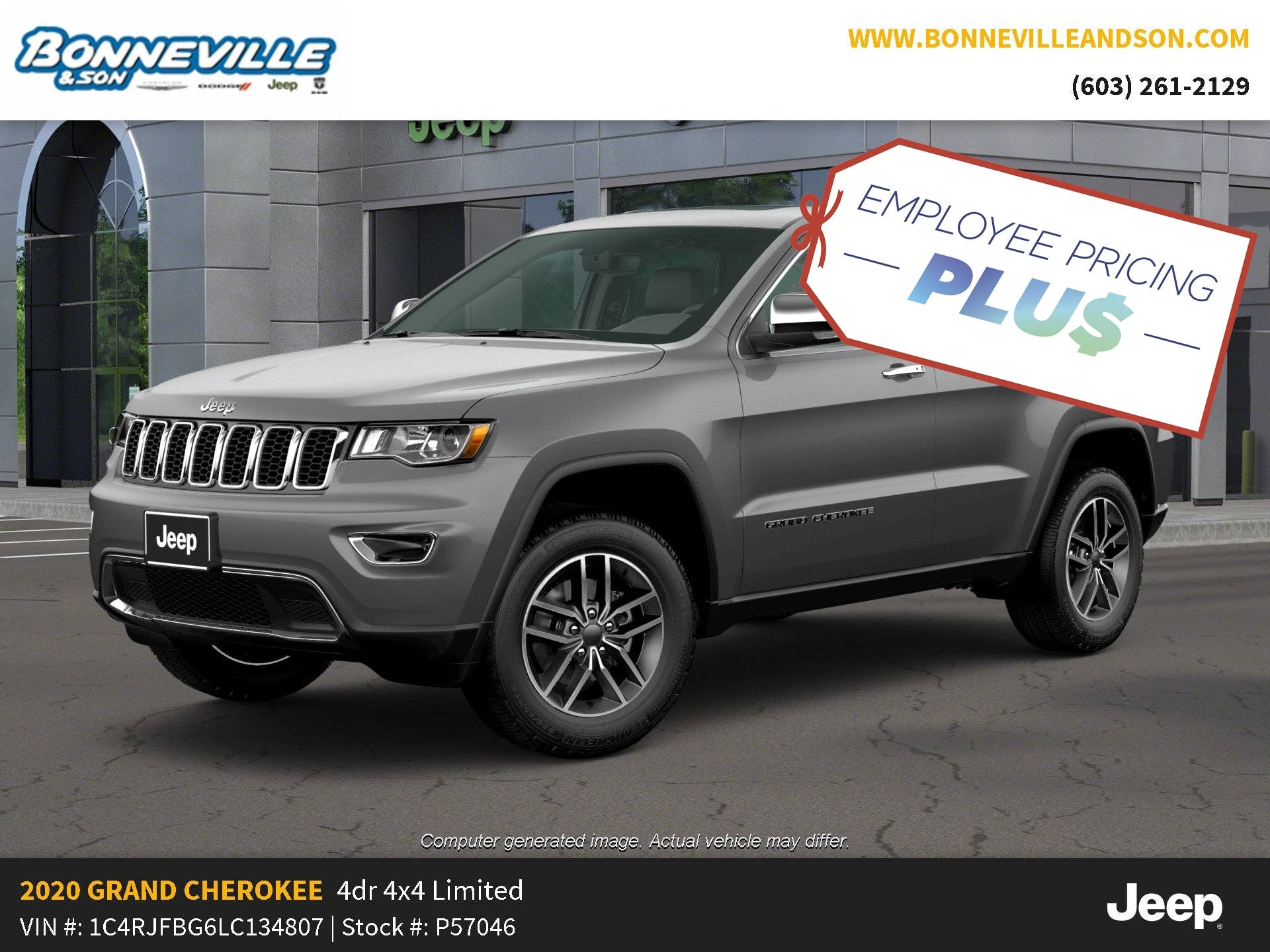 New 2020 Jeep Grand Cherokee LIMITED 4X4 Sport Utility in Manchester, NH