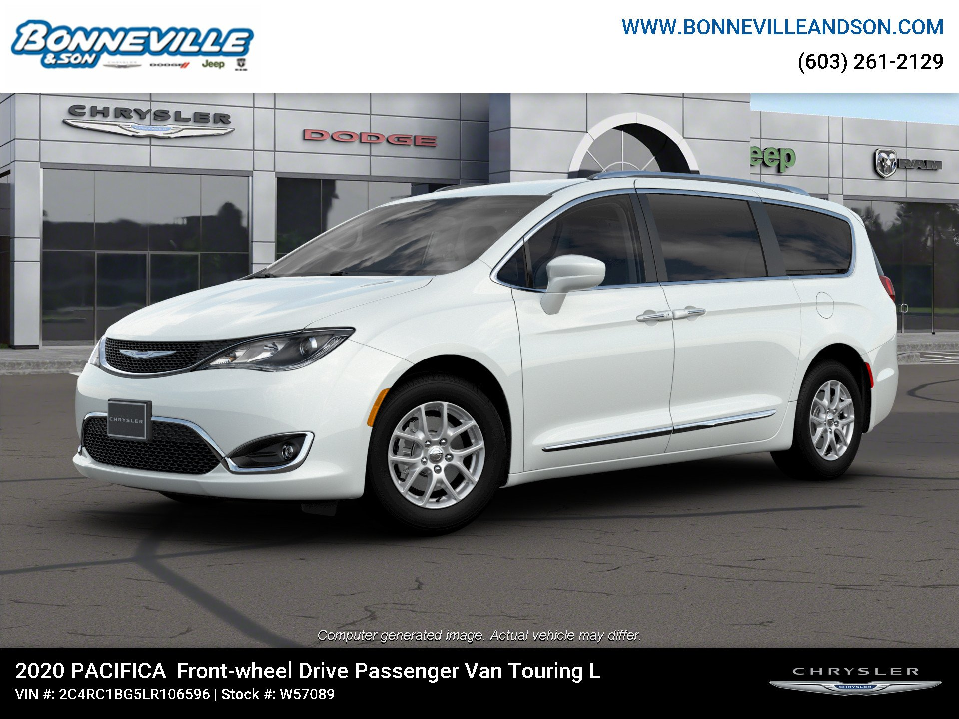 New 2020 Chrysler Pacifica TOURING L Passenger Van in Manchester, NH
