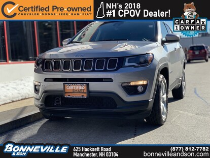 Certified Used 2018 Jeep Compass Latitude For Sale in Manchester NH |