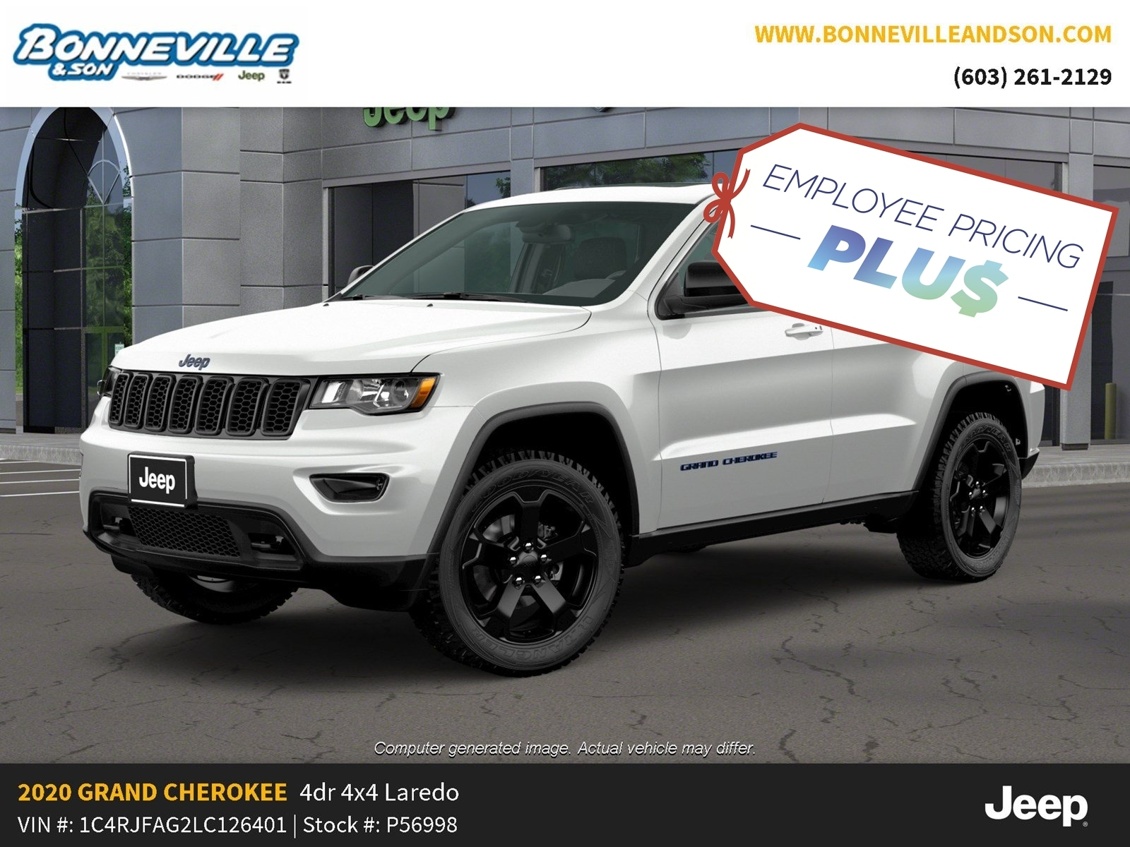 New 2020 Jeep Grand Cherokee UPLAND 4X4 Sport Utility in Manchester, NH