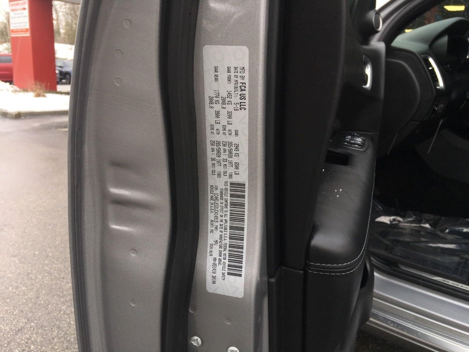 Certified Used 2018 Dodge Durango Citadel Anodized Platinum