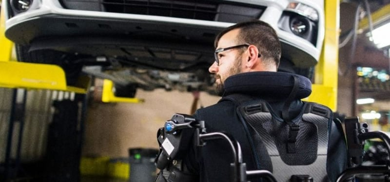 Ford deploys wearable exoskeletons in assembly plants around the world