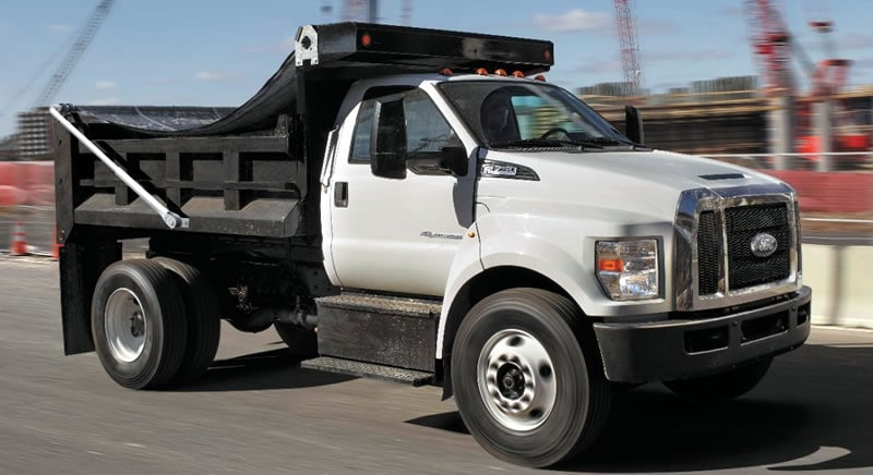 2018 ford work truck. delighful truck photo of an upgraded 2018 ford f650 medium duty truck upfitted with a dump for ford work truck