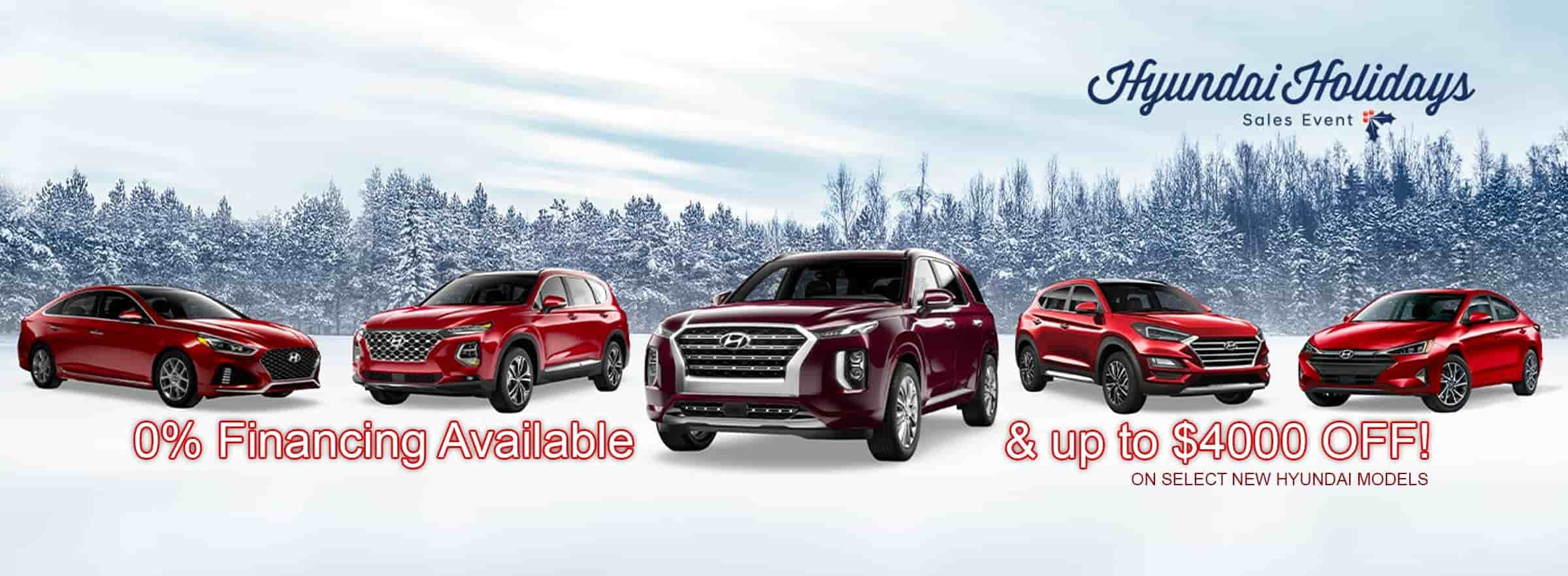 Hyundai Holidays Sales Event is here at Boulder Hyundai in Boulder CO