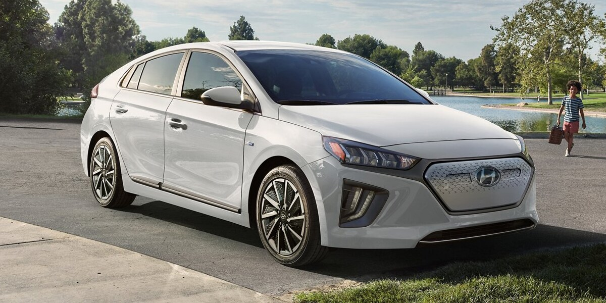 The 2020 Hyundai IONIQ Electric runs on electricity serving Boulder Colorado