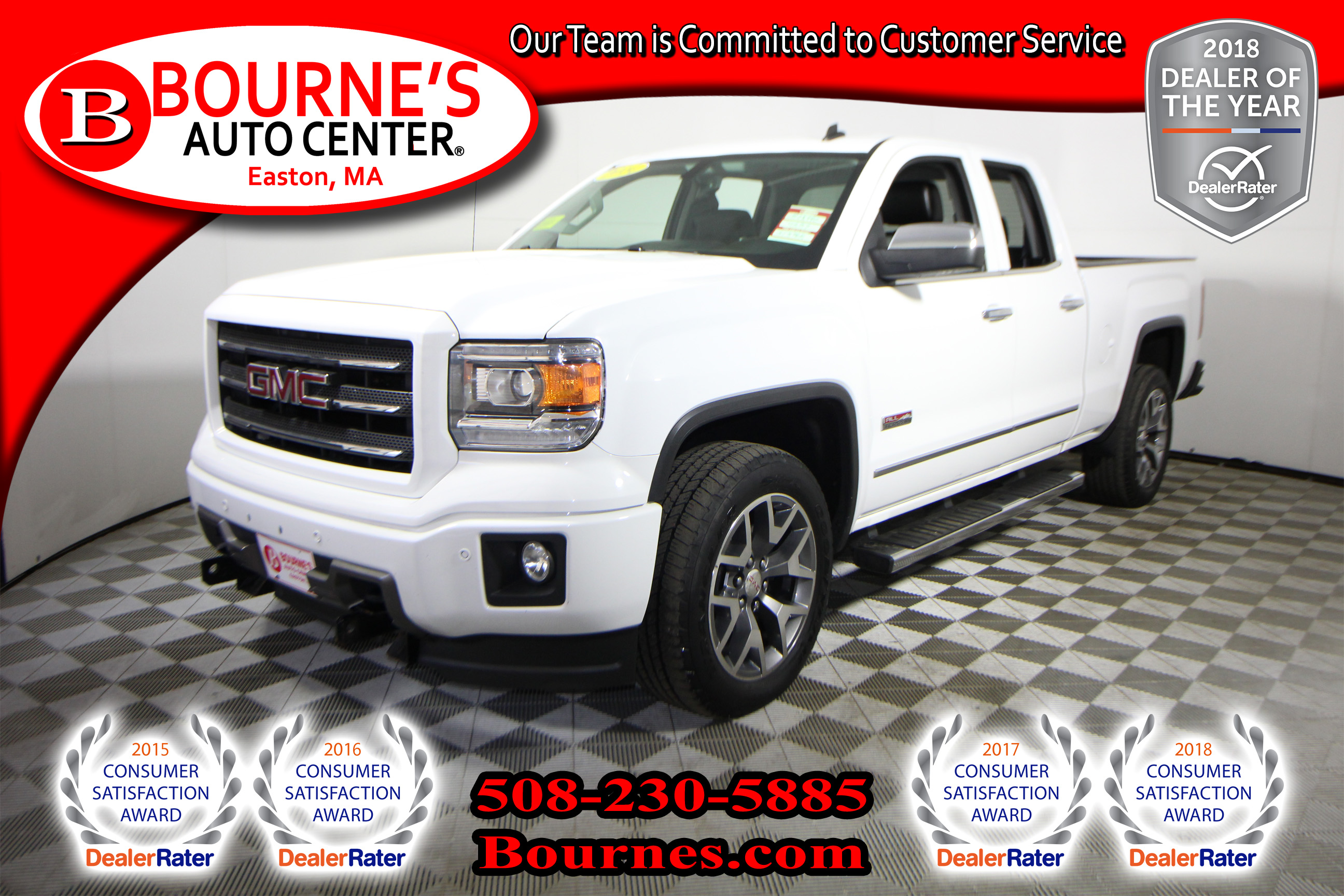 2014 GMC Sierra 1500 Double Cab 4WD SLT w/ Navigation,Leather,Heated Fr Truck Double Cab