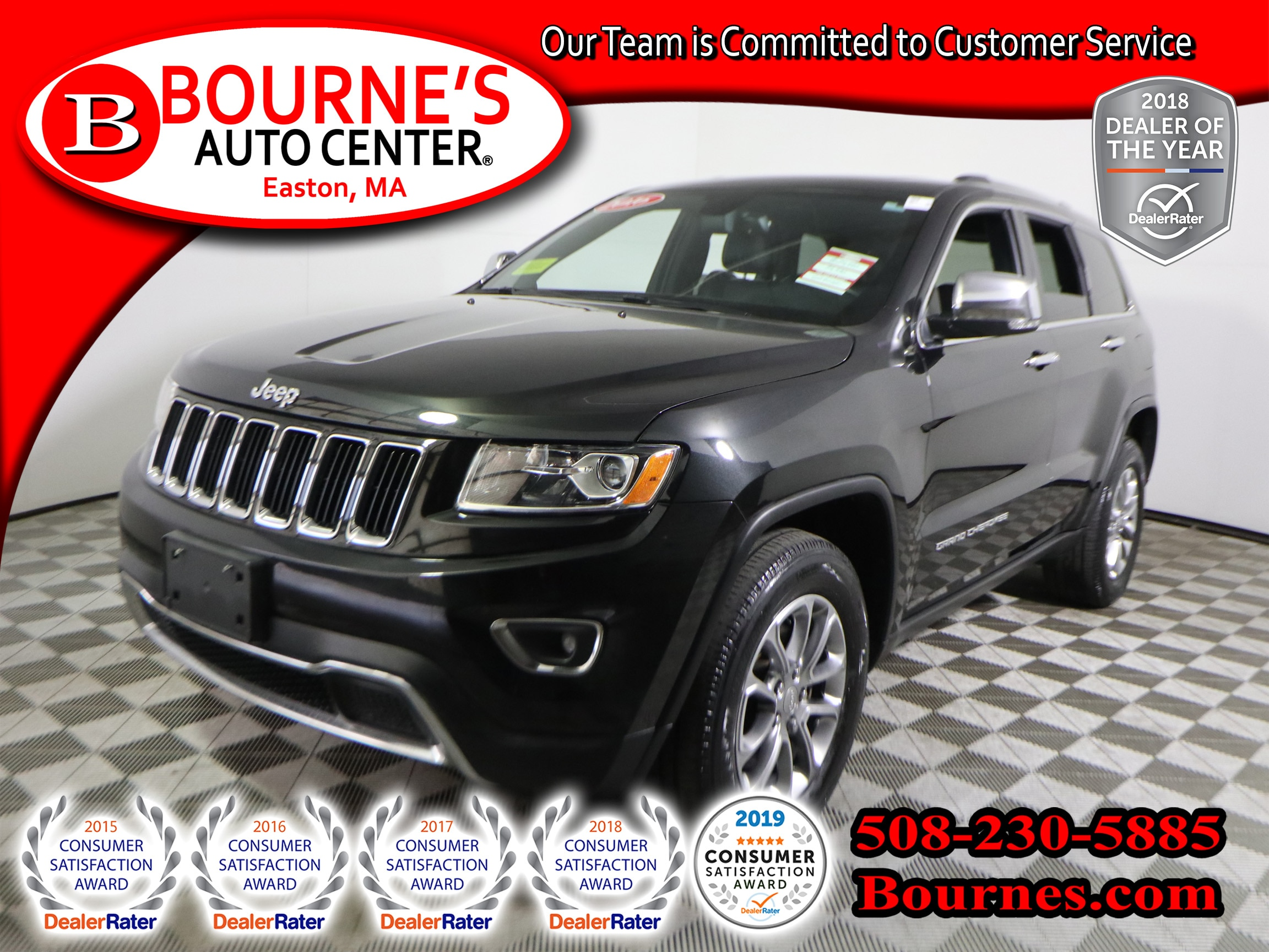 2016 Jeep Grand Cherokee Limited 4WD w/ Nav,Leather,Sunroof. SUV