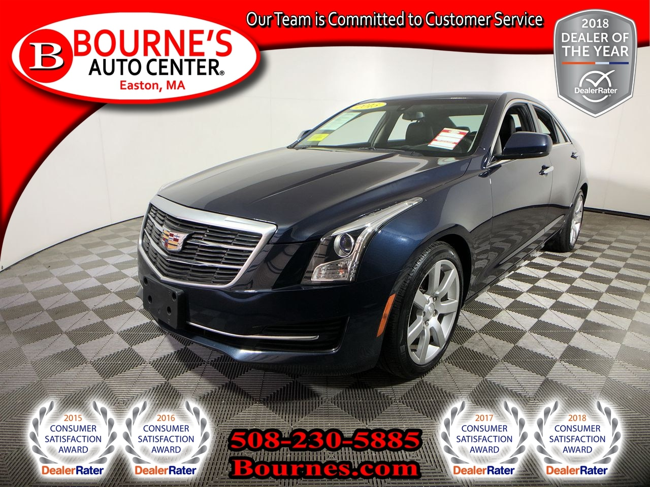 Used 2015 Cadillac Ats For Sale At Bournes Auto Center Vin Largest Engine 1g6aa5ra5f0132614