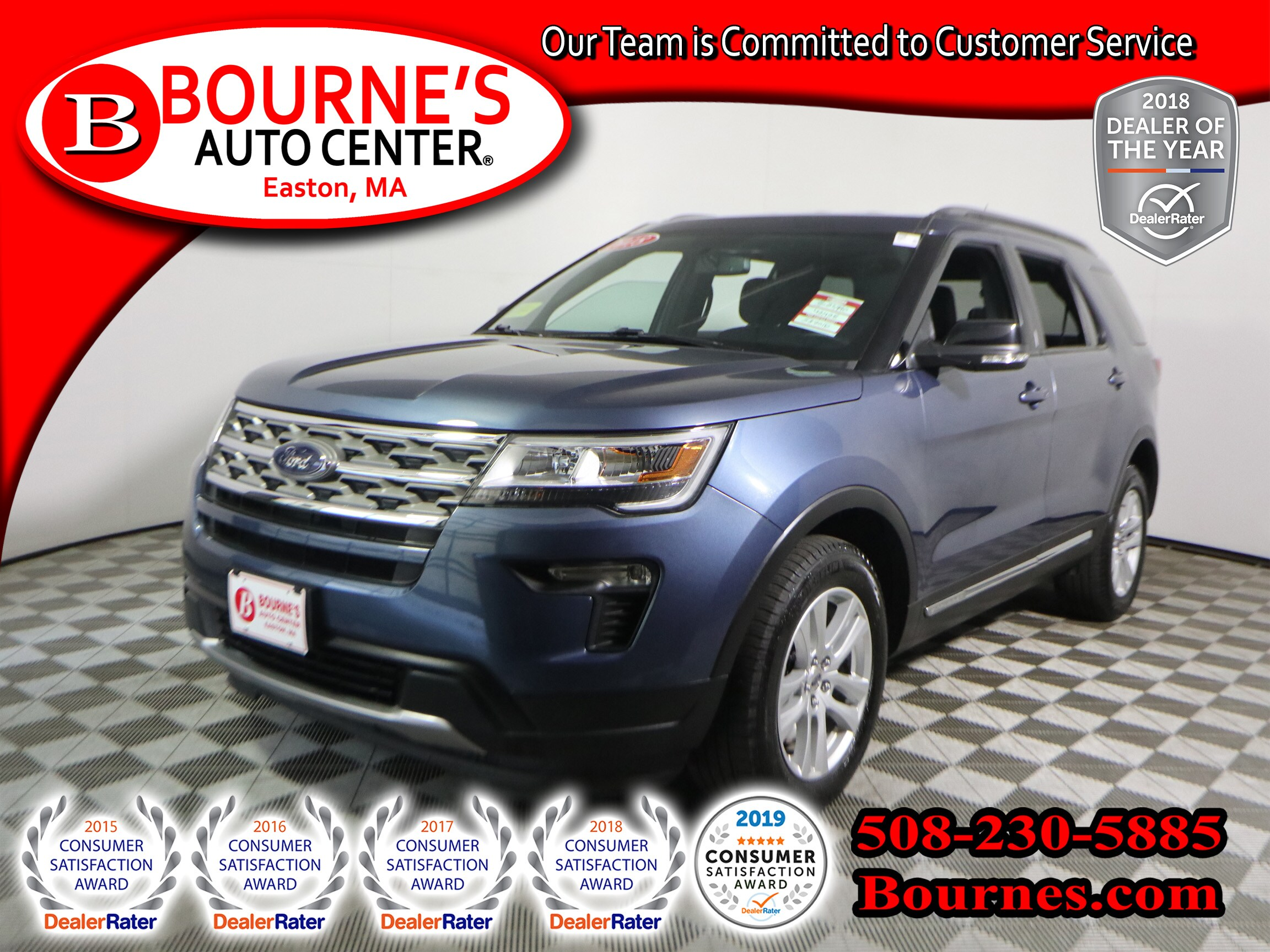 2018 Ford Explorer XLT 4WD w/ Third Row Seating,Backup-Camera. SUV