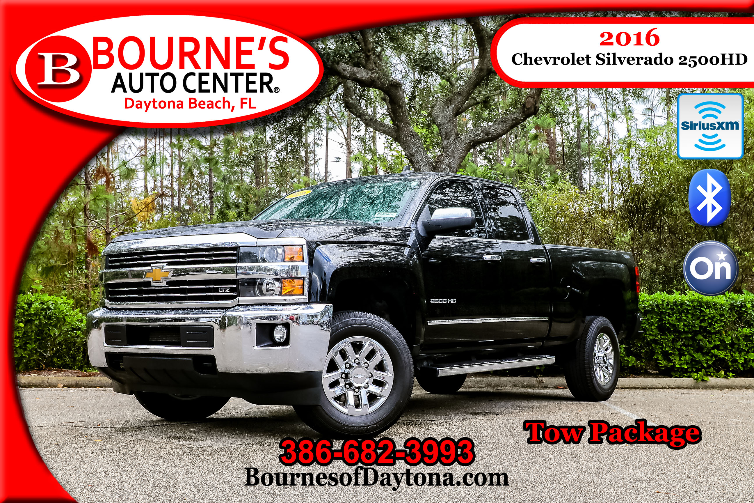 2016 Chevrolet Silverado 2500HD LTZ Tow Package/ OnStar/ XM/ Leather Truck Double Cab