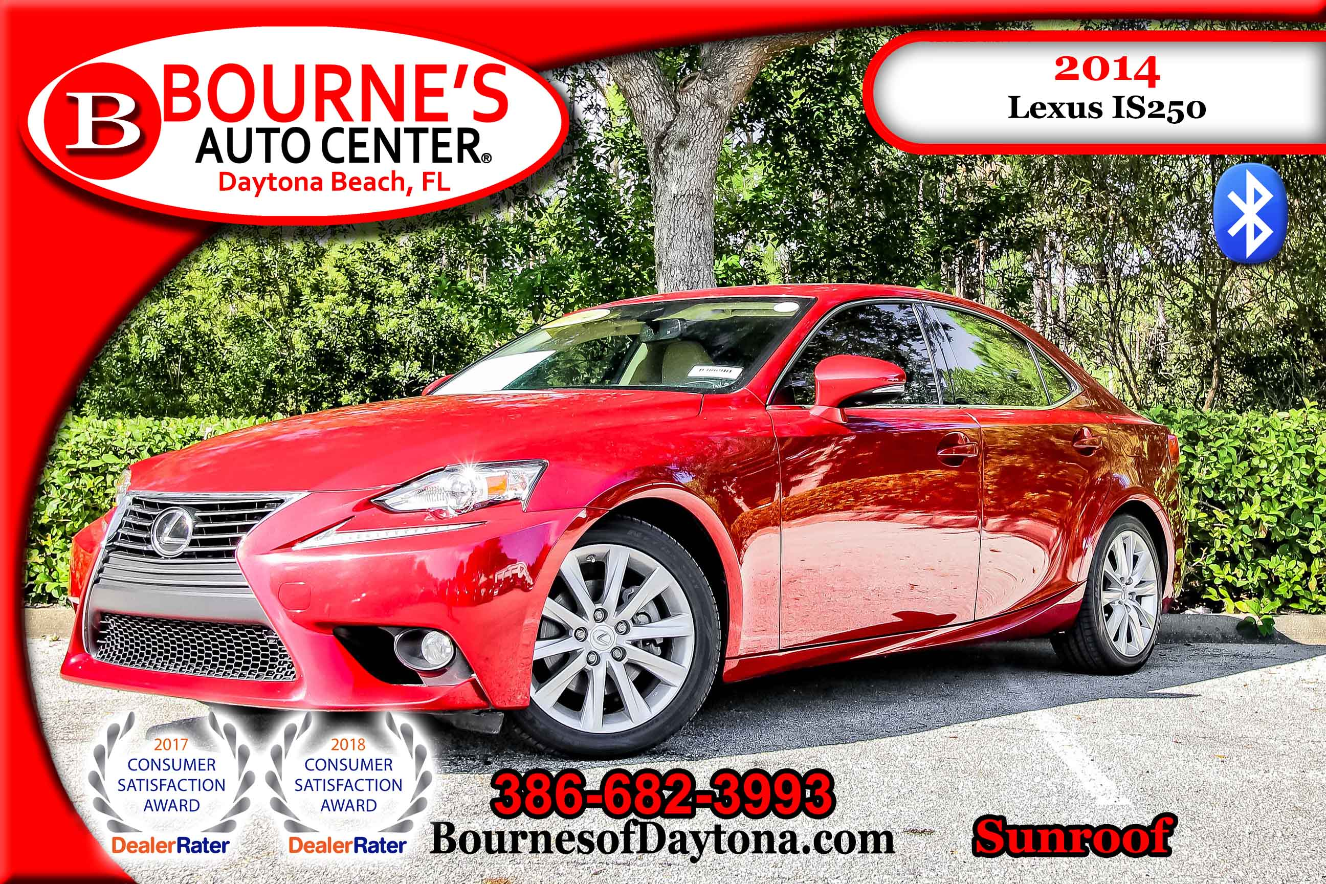 2014 LEXUS IS 250 Sunroof/ Bluetooth/ Leather Sedan