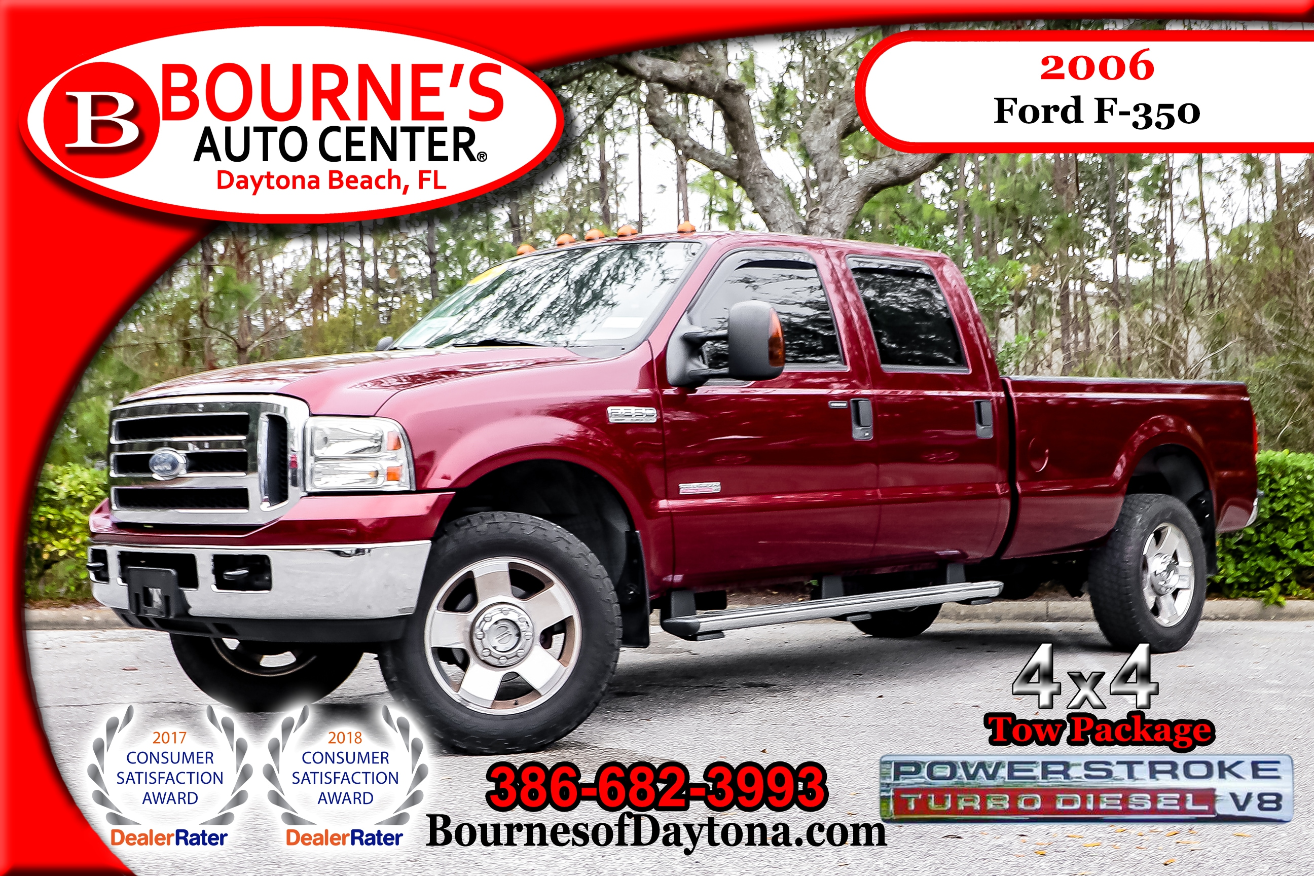 2006 Ford F-350 Lariat 4x4 Turbo Diesel Tow Package Truck Crew Cab