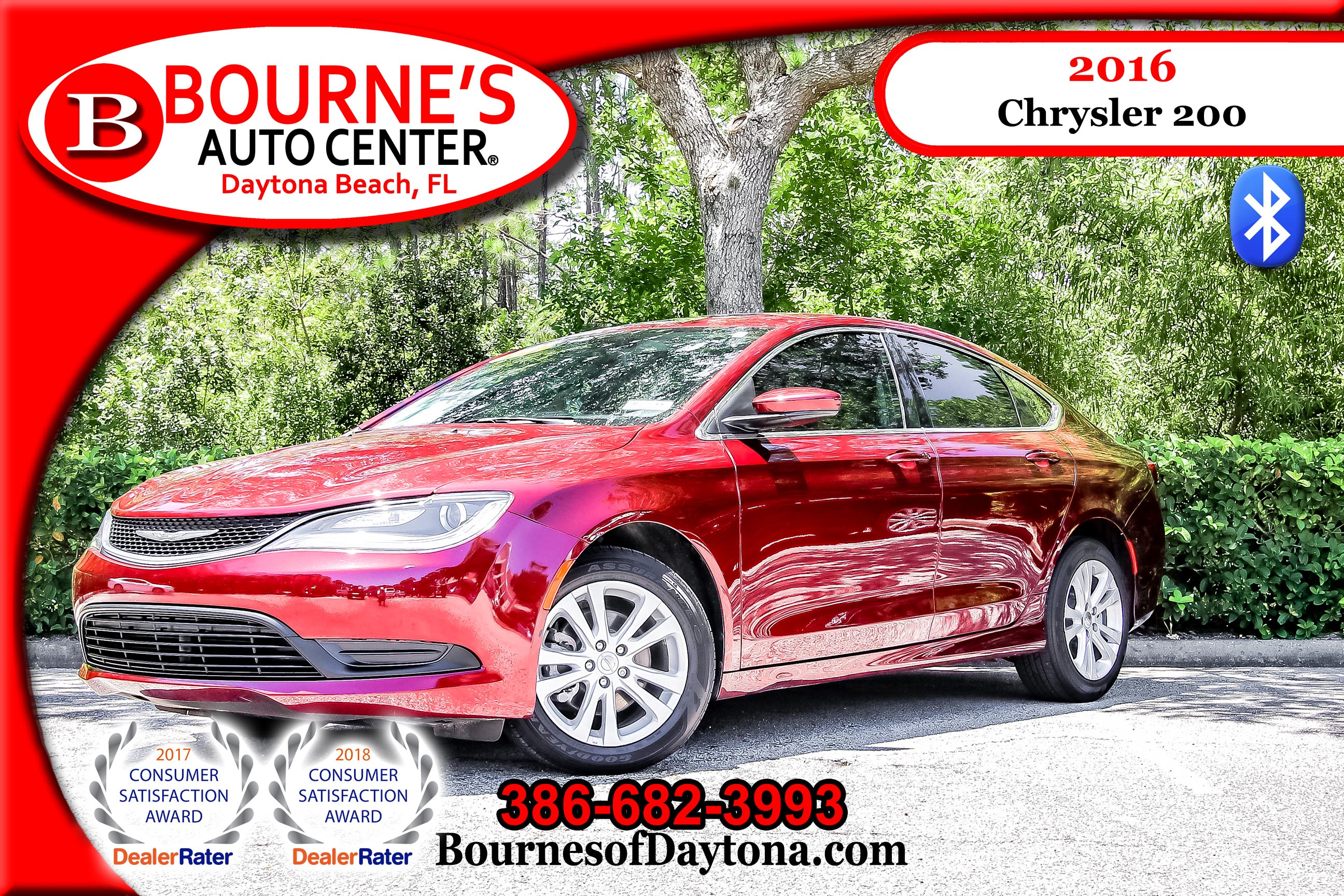 2016 Chrysler 200 LX Bluetooth Sedan