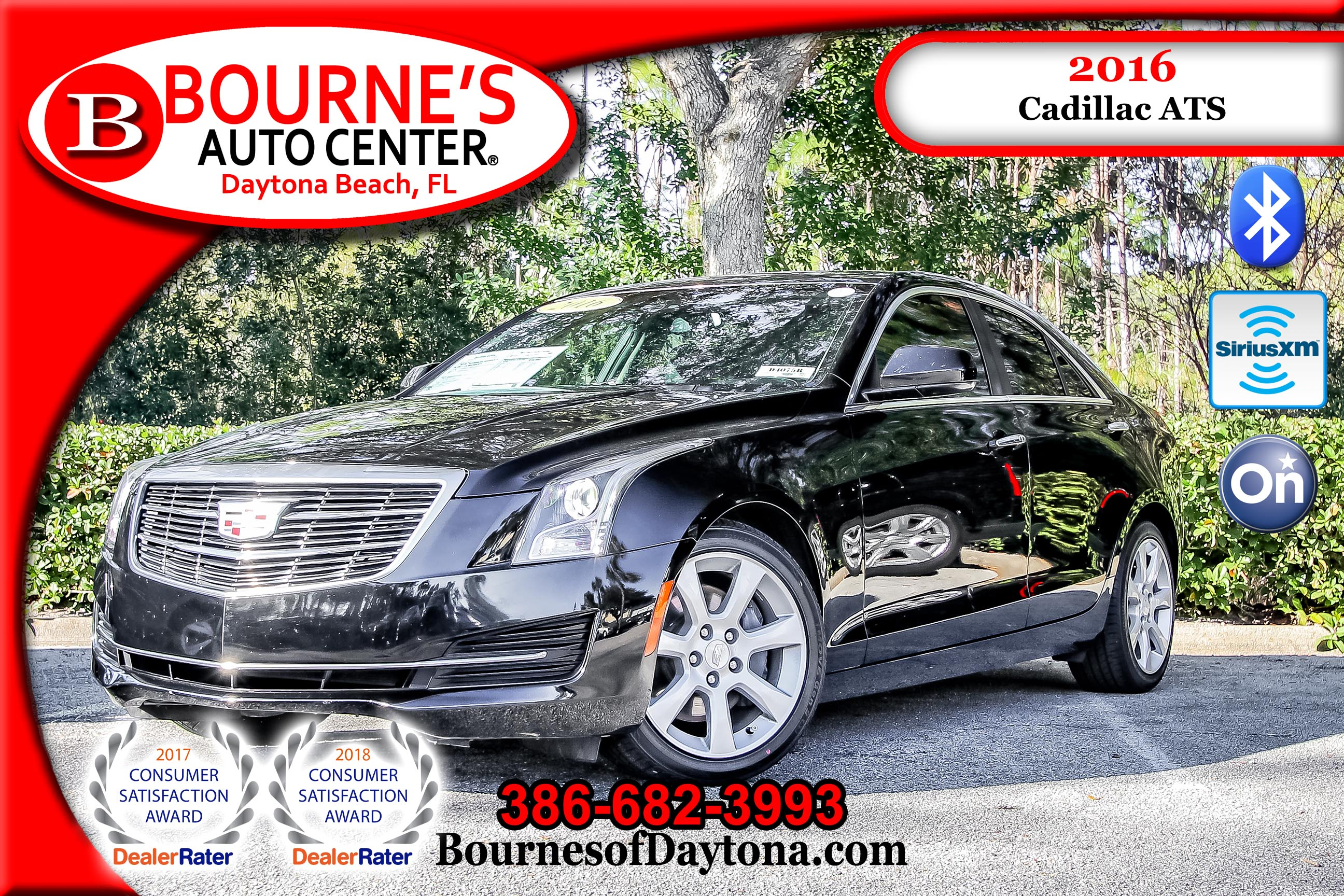 2016 Cadillac ATS 2.0L Turbo OnStar/ XM/ Leather Sedan
