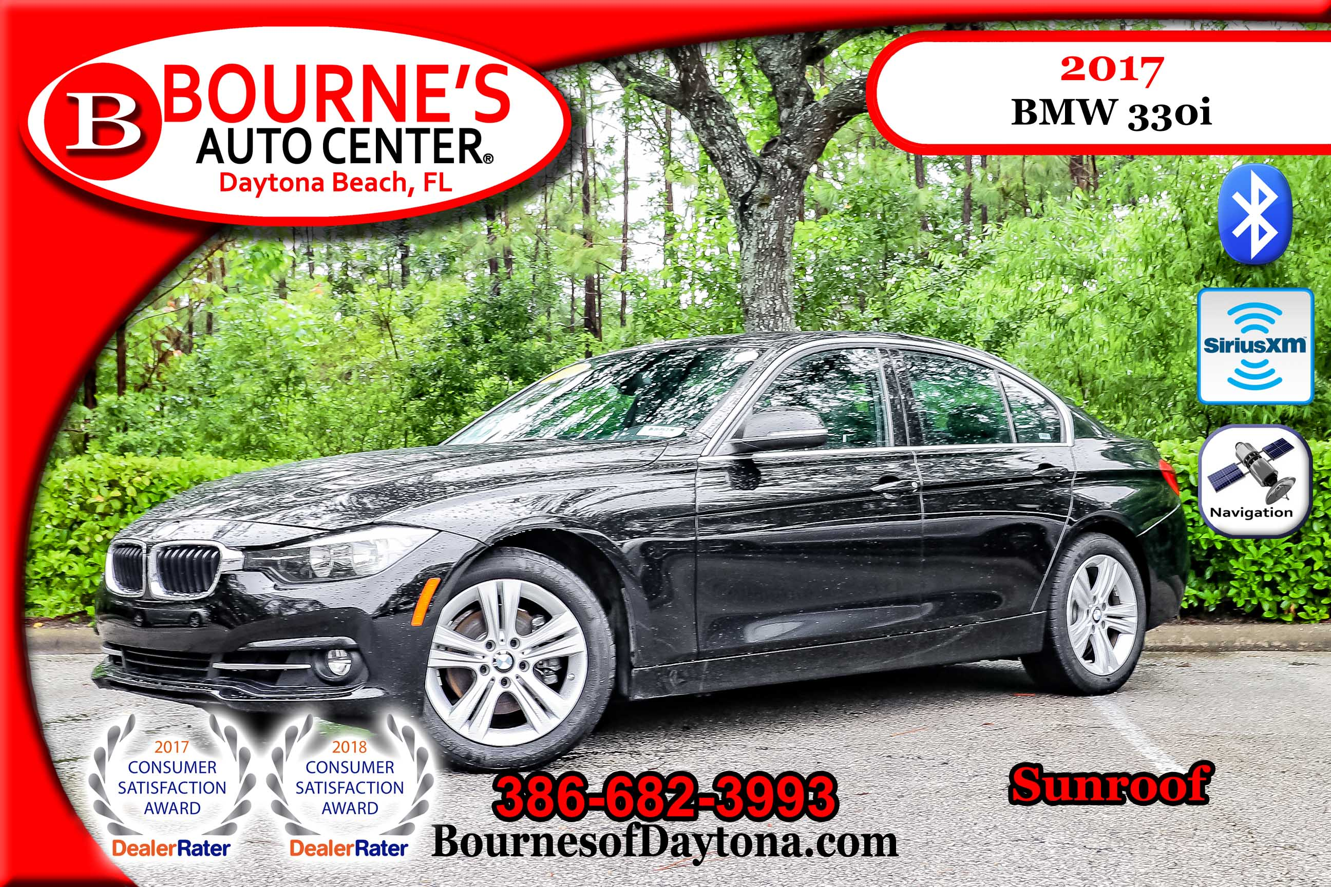 2017 BMW 330i Sunroof/ Nav/ XM/ Leather Sedan