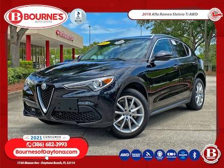 2018 Alfa Romeo Stelvio Ti AWD w/Leather, Navigation, Harman Kardon Audio, SUV