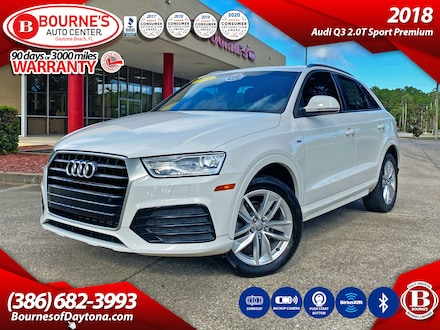 2018 Audi Q3 2.0T Sport Premium w/Leather, Sunroof, Backup Came SUV