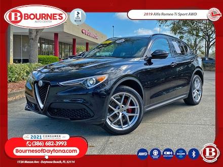 2019 Alfa Romeo Stelvio Ti Sport AWD w/Red Leather,Driver Assist,Bluetooth SUV