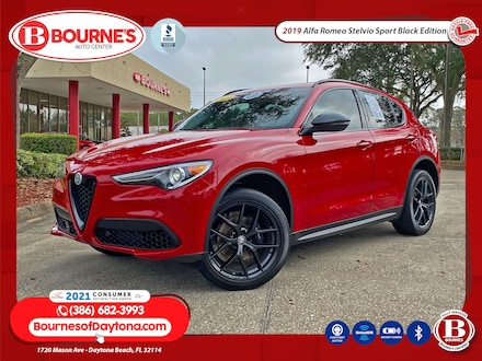 2019 Alfa Romeo Stelvio Sport Black Edition w/Leather,Apple CarPlay SUV