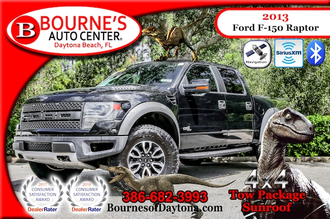 2013 Ford F-150 SVT Raptor 4x4 Tow Pack/ Sunroof/ Nav/ Leather Truck SuperCrew Cab