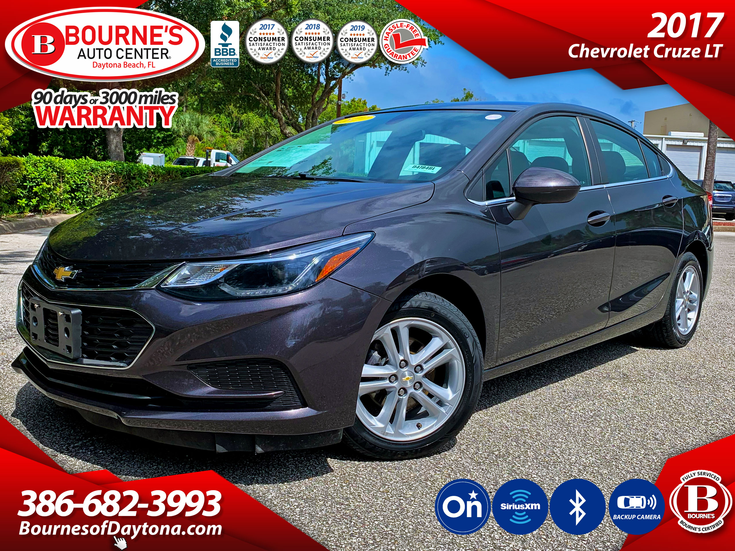 2017 Chevrolet Cruze LT Auto w/ OnStar, Bluetooth Sedan