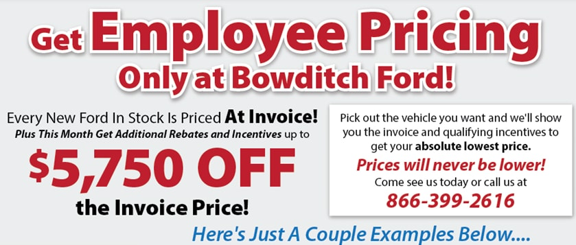 Bowditch Ford Vehicles For Sale In Newport News VA - Ford employee pricing vs invoice