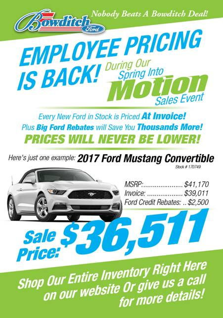 Bowditch Ford New Ford Dealership In Newport News VA - Ford employee pricing vs invoice