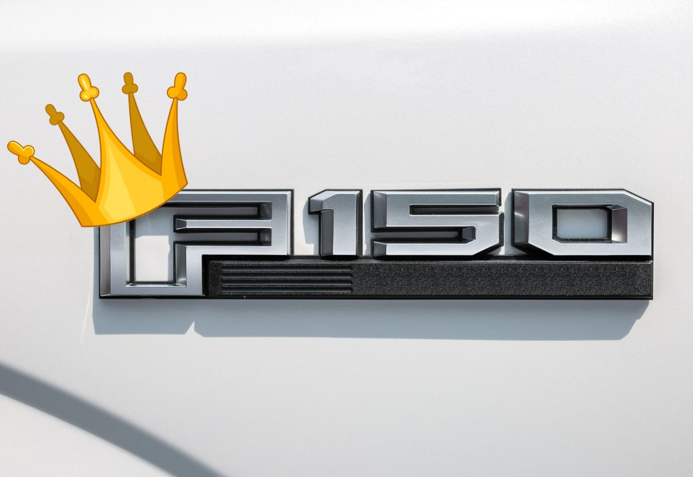 Ford F-150 emblem dubbed with the crown as King of full size trucks