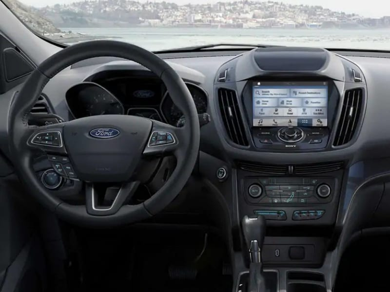 Interior of a 2019 Ford Escape