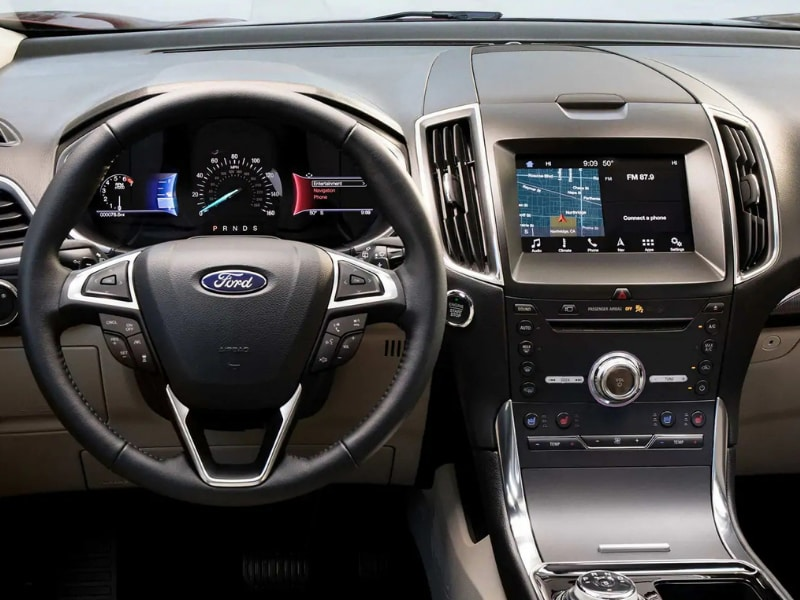 Interior view of a 2019 Ford Edge