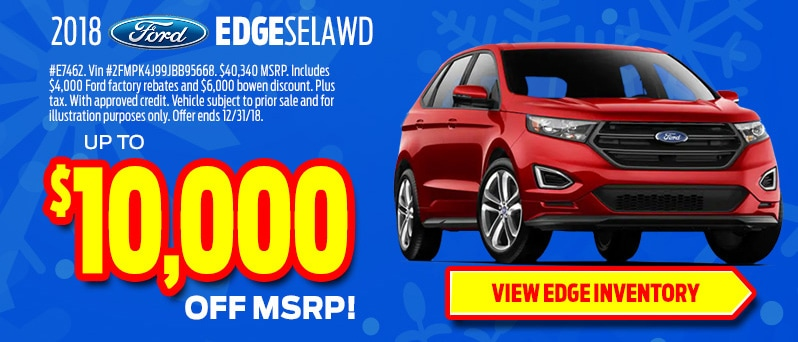 2018 Ford Edge up to $10,000 off MSRP