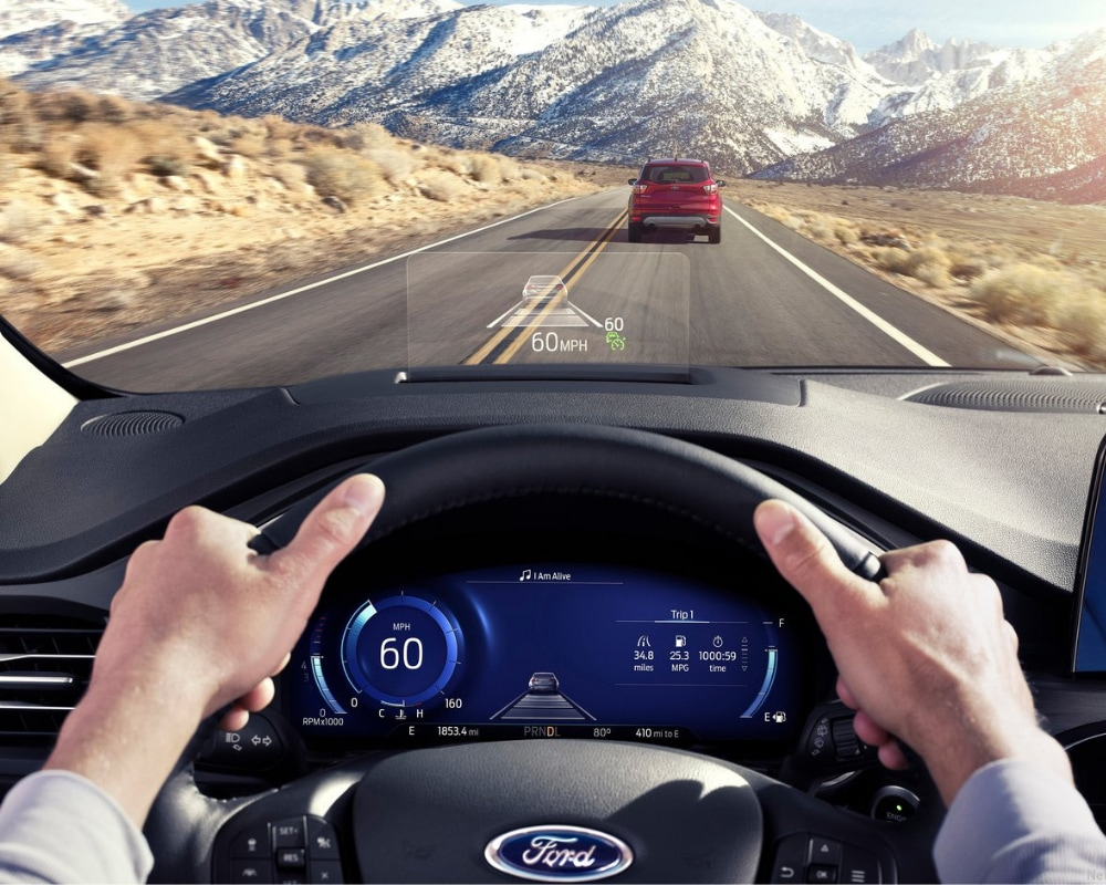 New Head-Up display in the 2020 Ford Escape