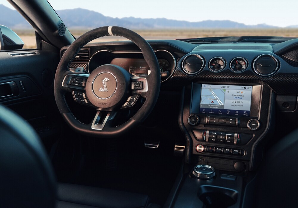 Interior front dashboard design of the 2020 Ford Mustang Shebly GT series