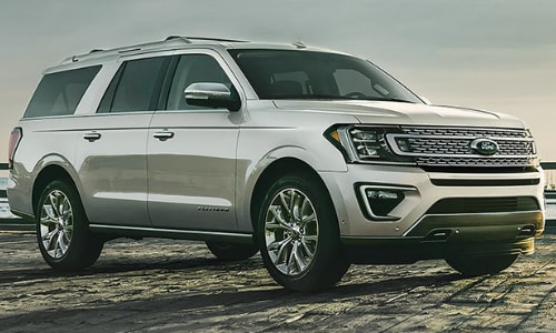 2020 Ford Expedition beach pier sunset scene