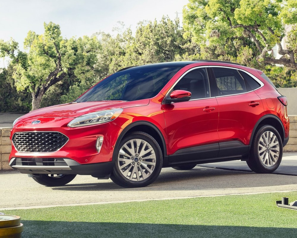 new 2020 Ford Escape exterior redesign in Rapid Red
